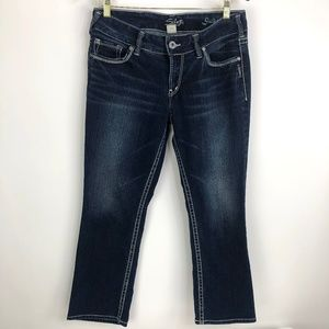 Silver Suki Straight Leg Jean Size 29 (32W x 26L)
